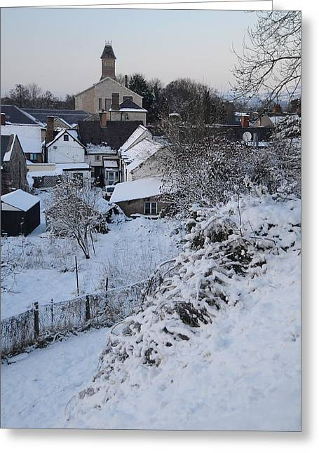 Winter Scene In North Wales Greeting Card by Harry Robertson