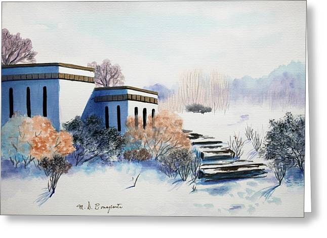 Winter Scene Greeting Card by M Diane Bonaparte