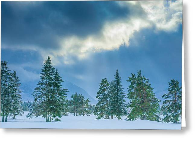 Winter Scene - New Hampshire Greeting Card by Joseph Smith