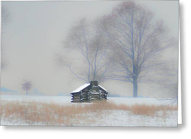 Winter Scene - Valley Forge Greeting Card