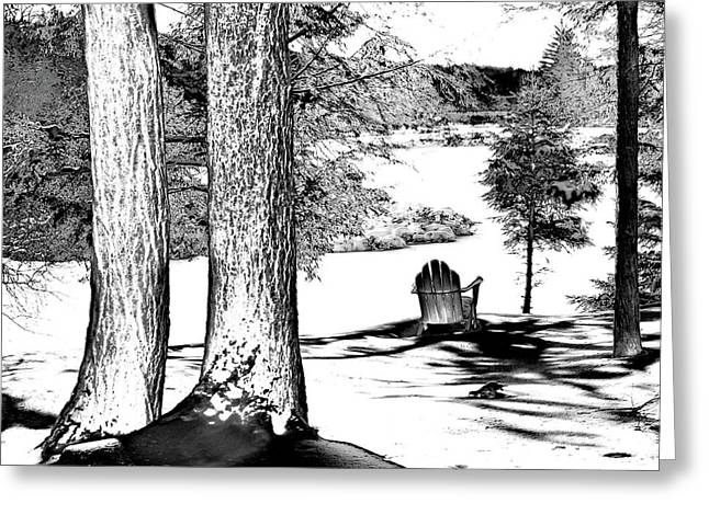 Greeting Card featuring the photograph Winter Shadows by David Patterson