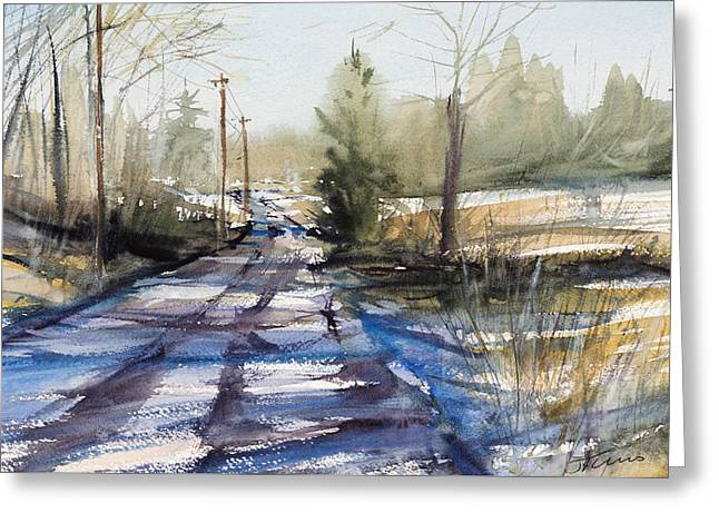Winter Shadows  Greeting Card by Judith Levins