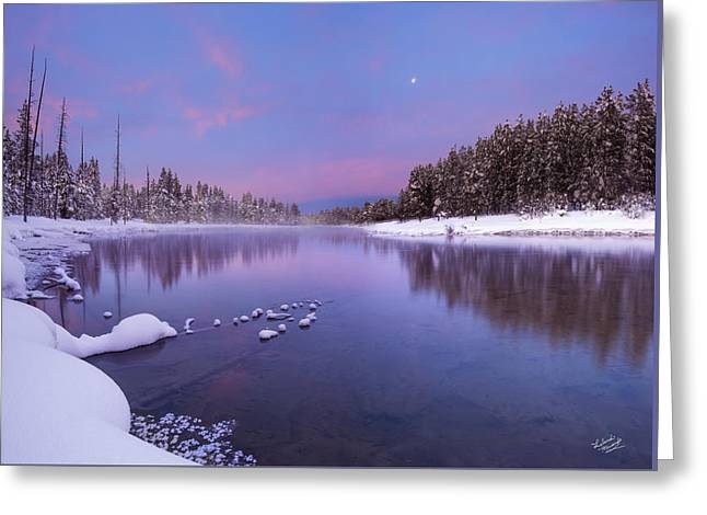 Winter Silence And Beauty Greeting Card by Leland D Howard