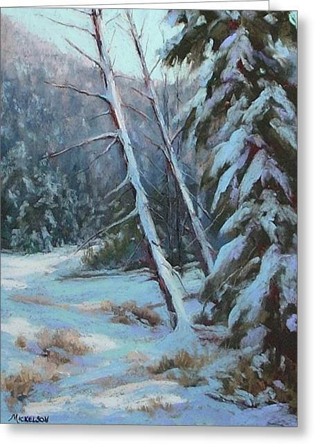 Winter Silence Greeting Card by Debra Mickelson