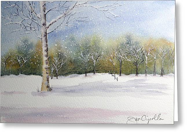 Winter Silence Greeting Card by Jan Cipolla