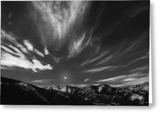 Winter Sky Greeting Card by Leland D Howard