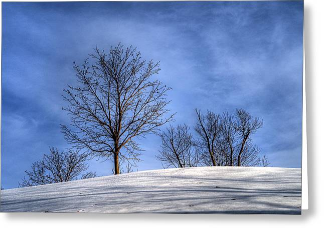 Winter Skyline Greeting Card