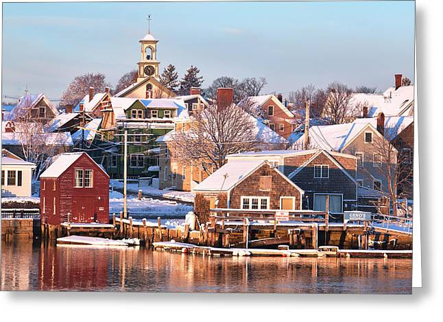 Winter Snowfall In Portsmouth Greeting Card by Eric Gendron