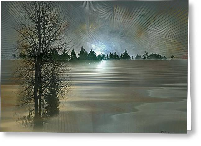 Winter Solstice Greeting Card by Jean Gugliuzza