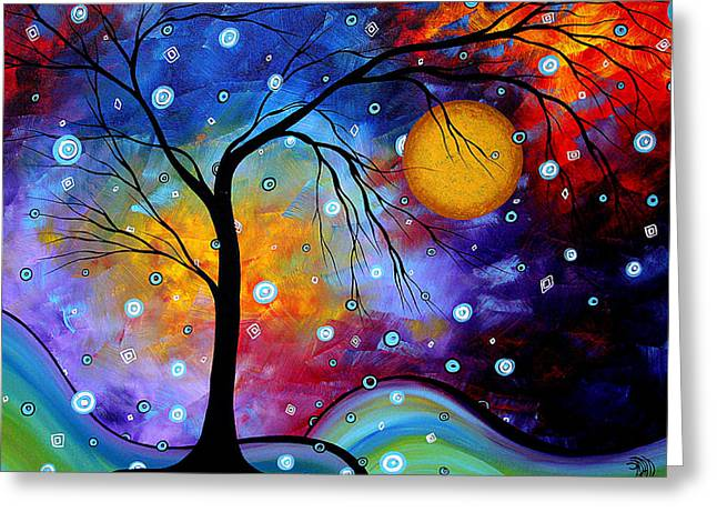 Bold Color Abstract Greeting Cards - Winter Sparkle by MADART Greeting Card by Megan Duncanson