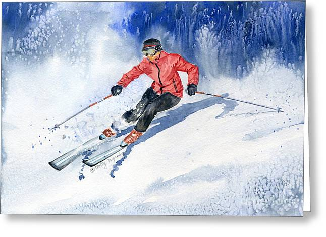 Winter Sport Greeting Card by Melly Terpening