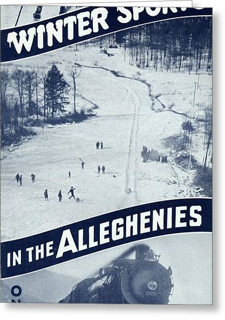 Winter Sports In The Alleghenies Greeting Card