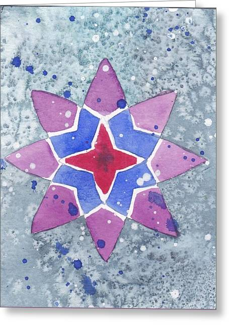 Winter Star Greeting Card by Paula Anthony