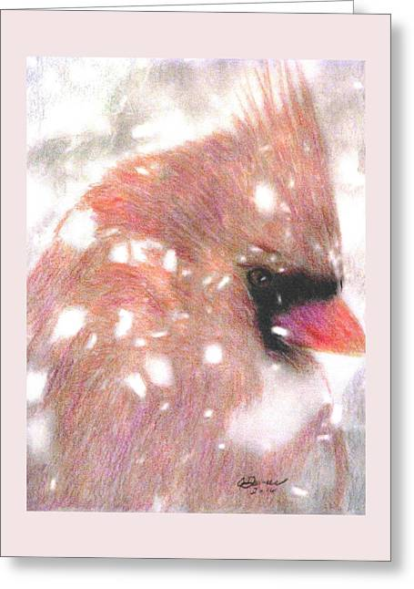 Winter Storm Greeting Card by Angela Davies