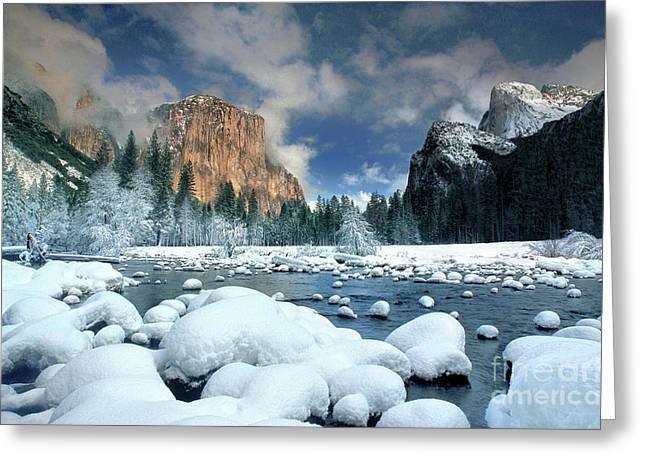 Greeting Card featuring the photograph Winter Storm In Yosemite National Park by Dave Welling