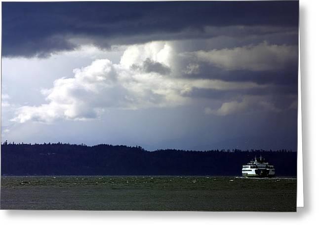 Winter Storm Greeting Card by Karen Ulvestad