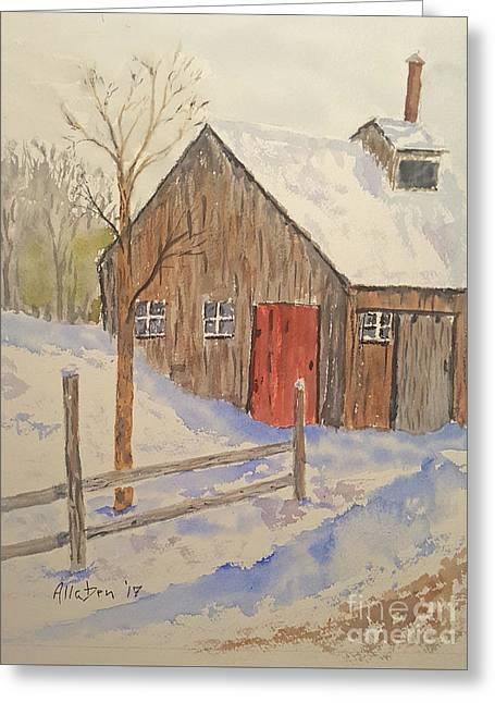Winter Sugar House Greeting Card
