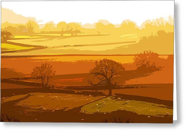 Lyth Hill 1 - Winter Sun  Greeting Card