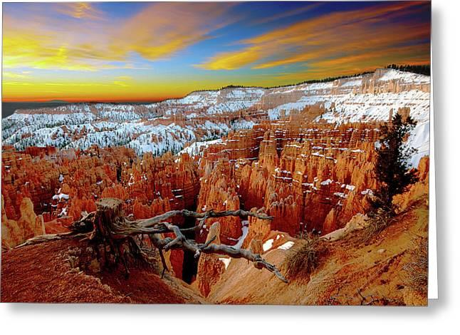Winter Sunrise At Bryce Greeting Card
