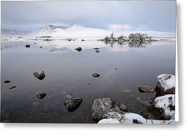 Greeting Card featuring the photograph Winter Sunrise Glencoe by Grant Glendinning