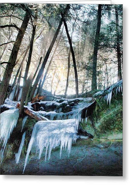 Winter Sunrise In Hocking Hills State Park Greeting Card