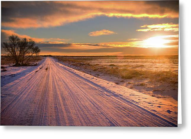 Winter Sunrise Light Greeting Card