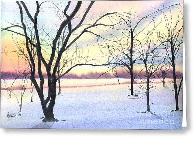 Winter Sunrise Greeting Card