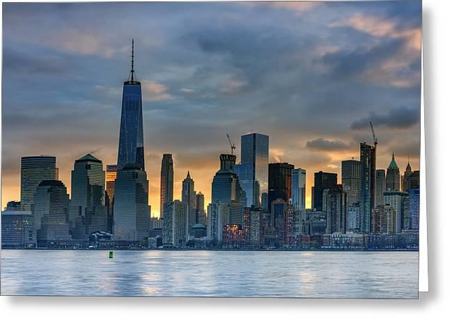 Winter Sunrise New York City Greeting Card by Rick Berk