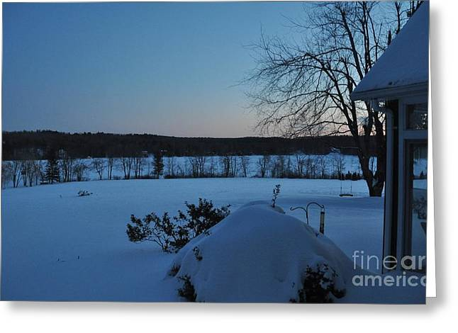 Greeting Card featuring the photograph Winter Sunrise On Demond Pond by John Black