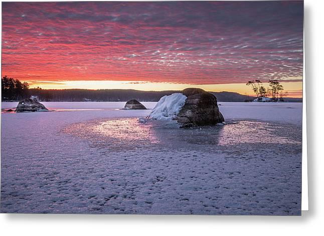Winter Sunrise Over Moose Pond Greeting Card