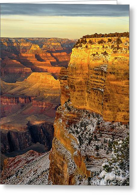 Winter Sunset At The Grand Canyon Greeting Card