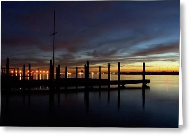 Winter Sunset On The Barnegat Bay #7 Greeting Card