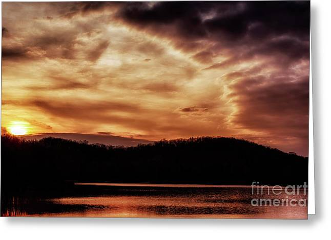 Greeting Card featuring the photograph Winter Sunset by Thomas R Fletcher