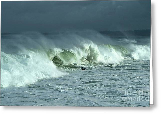 Winter Surf On Monterey Bay Greeting Card