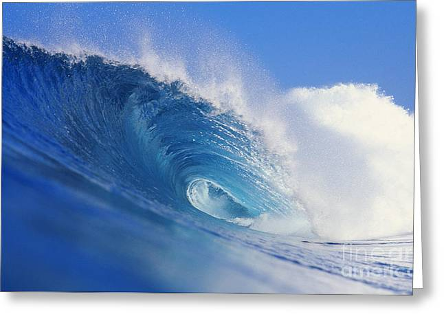 Winter Surf Greeting Card by Vince Cavataio - Printscapes