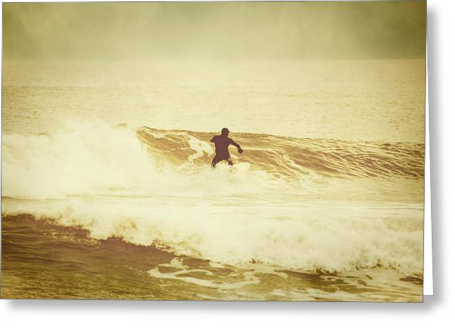 Winter Surfing At Casino Pier Greeting Card
