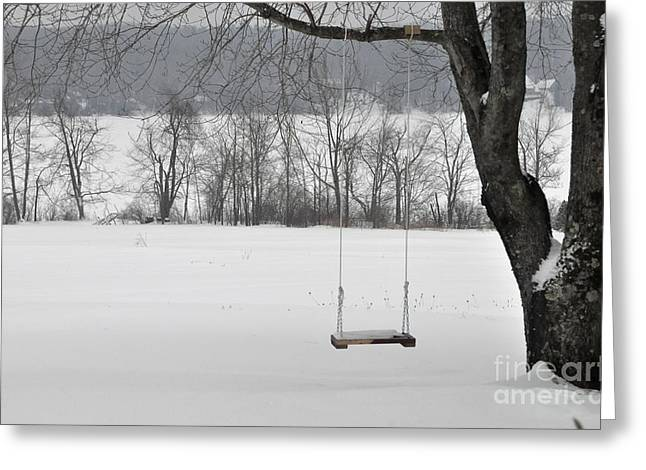 Greeting Card featuring the photograph Winter Swing by John Black