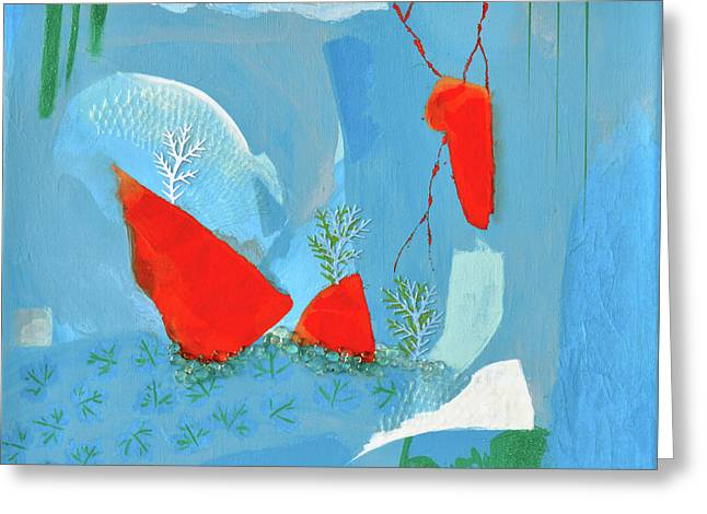 Winter Thunder Greeting Card by Donna Blackhall