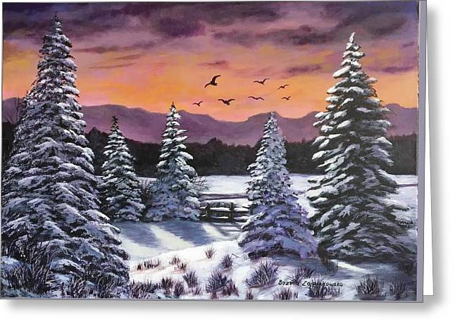 Winter Time Again Greeting Card
