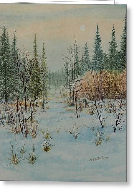 Winter Trail Alberta Greeting Card