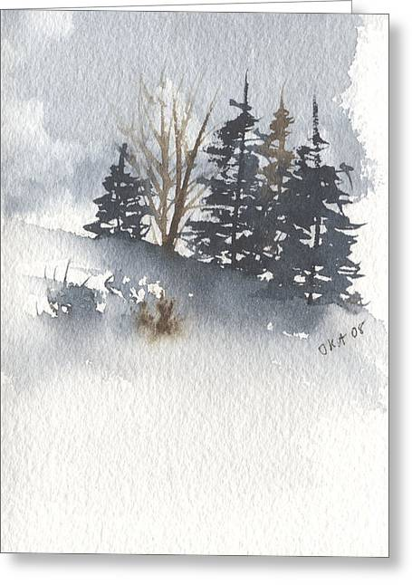 Winter Trees Greeting Card by Jan Anderson