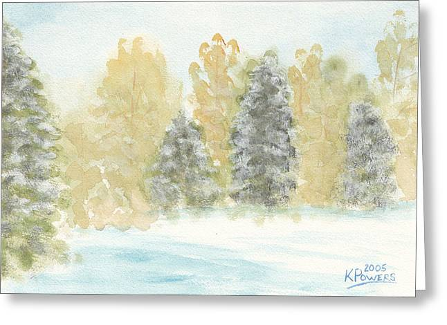 Winter Trees Greeting Card by Ken Powers