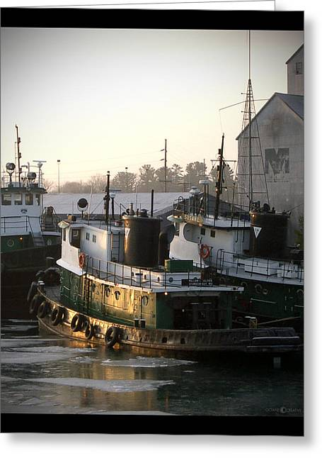 Winter Tugs Greeting Card