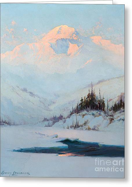 Winter Twilight On Mt. Mckinley Greeting Card