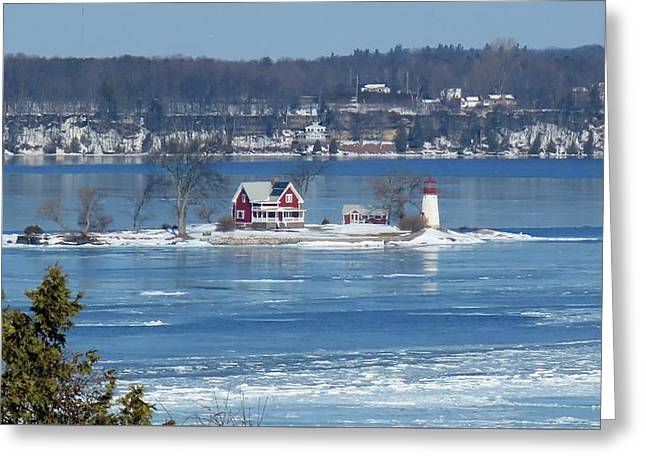 Winter View Of Crossover Island Greeting Card