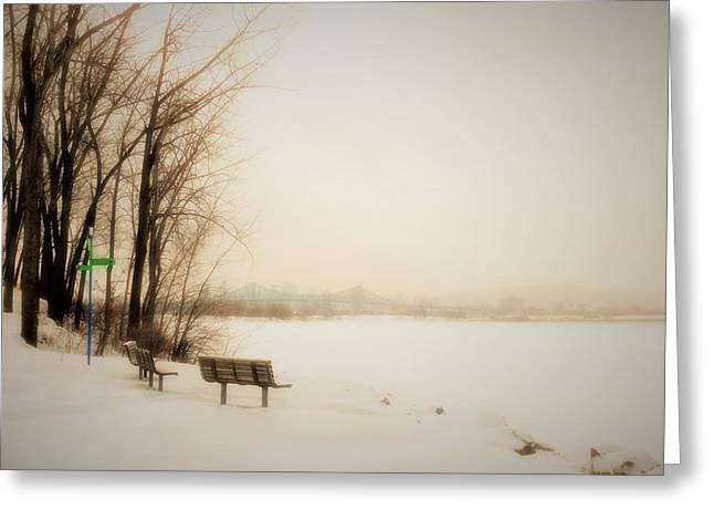 Winter View Over Montreal Greeting Card