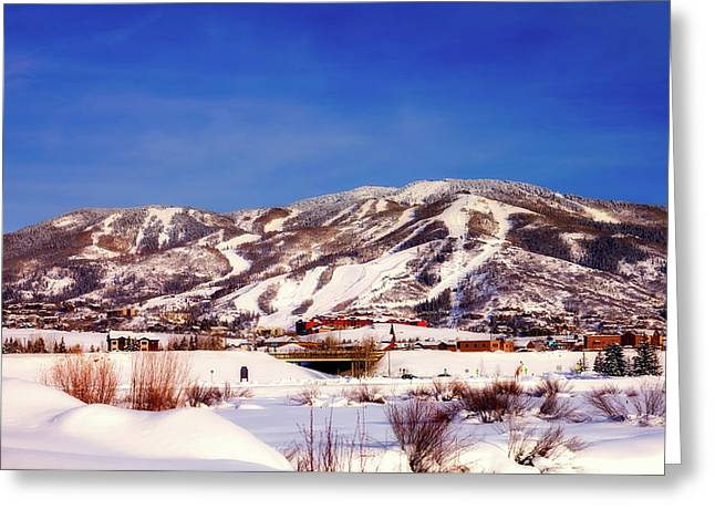 Winter View - Steamboat Springs Colorado Greeting Card