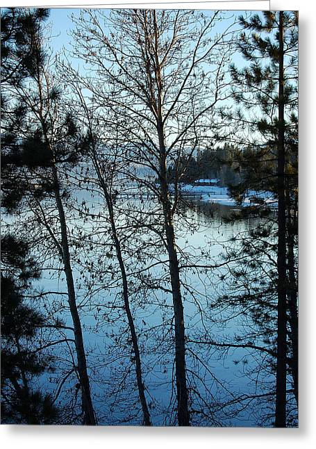 Winter Water Blues Greeting Card