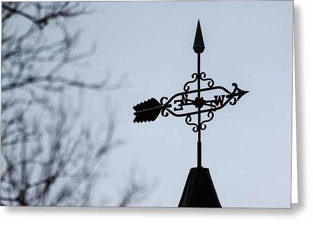 Winter Weathervane Greeting Card by Joni Eskridge