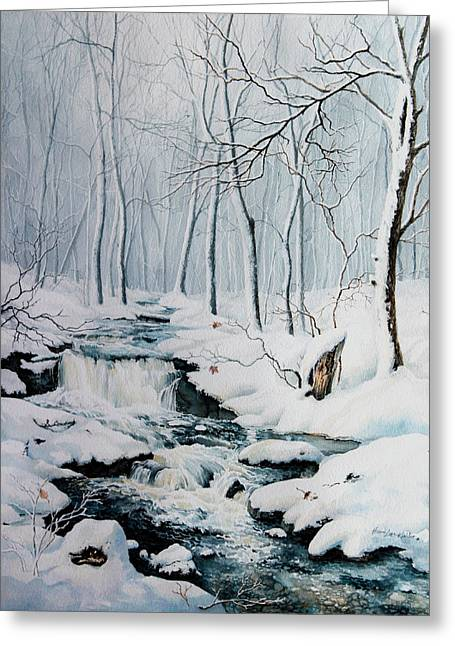Winter Whispers Greeting Card by Hanne Lore Koehler